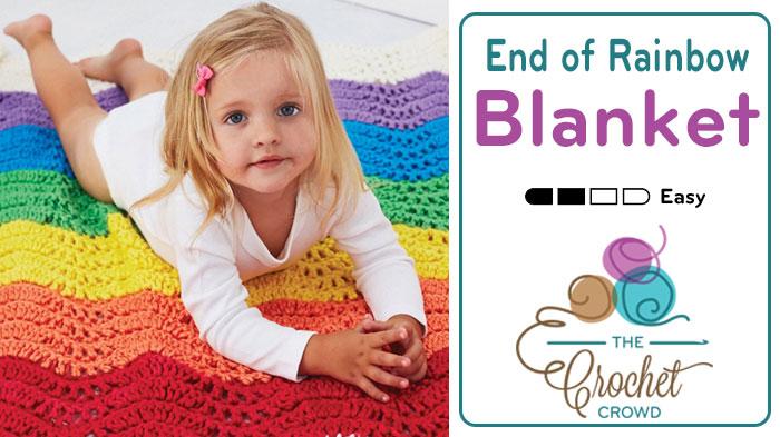 Crochet End of The Rainbow Blanket + Tutorial