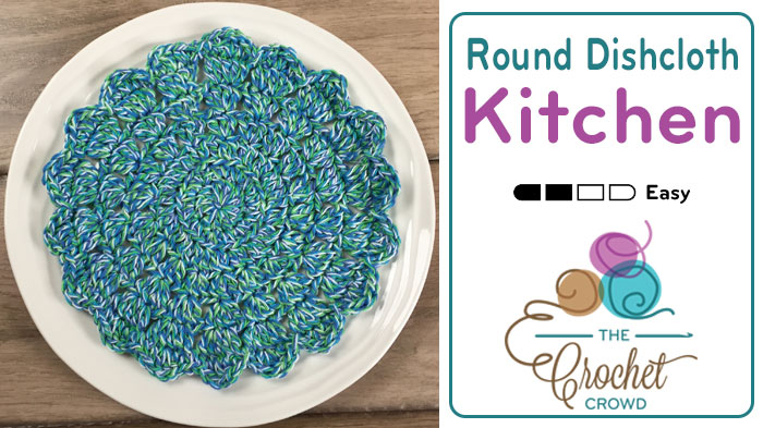 Crochet Patterns Round : Crochet Round Dishcloth - The Crochet Crowd