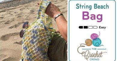 Crochet String Beach Bag