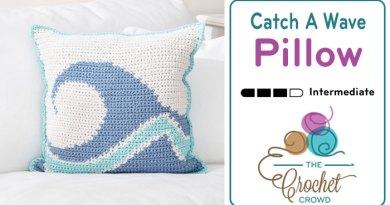 Crochet Catch A Wave Pillow + Tutorial