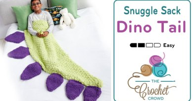 Crochet Dino Tail Snuggle Sack + Tutorial