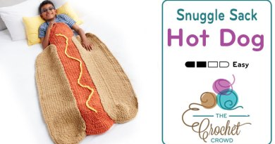 Crochet Hot Dog Snuggle Sack + Tutorial
