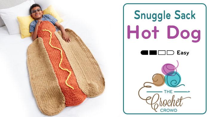 Crochet Hot Dog Snuggle Sack + Tutorial