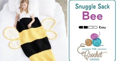 Crochet Bumble Bee Snuggle Sack + Tutorial