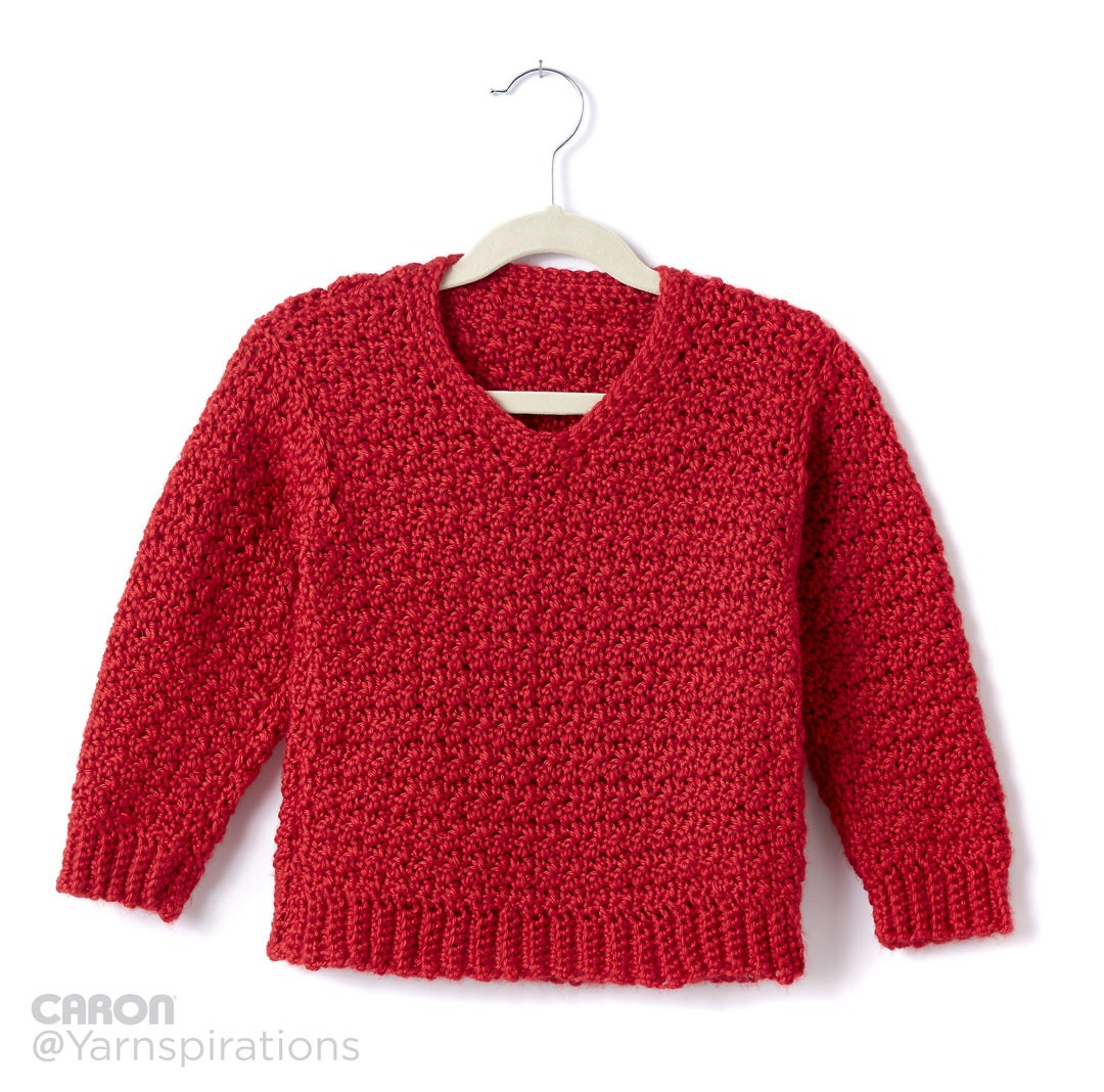 Free Crochet Pattern V Neck Pullover : Close Stitch Family of Patterns: Free eBook + Other ...