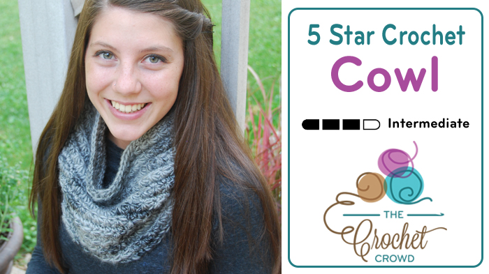 5 Star Crochet Cowl + Tutorial