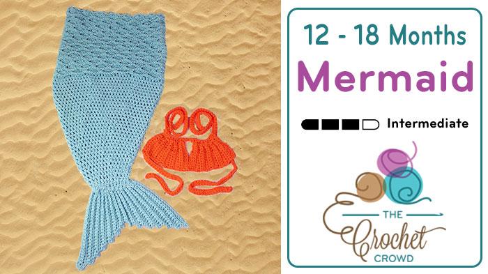 Crochet Baby Mermaid Tail with Bra Top