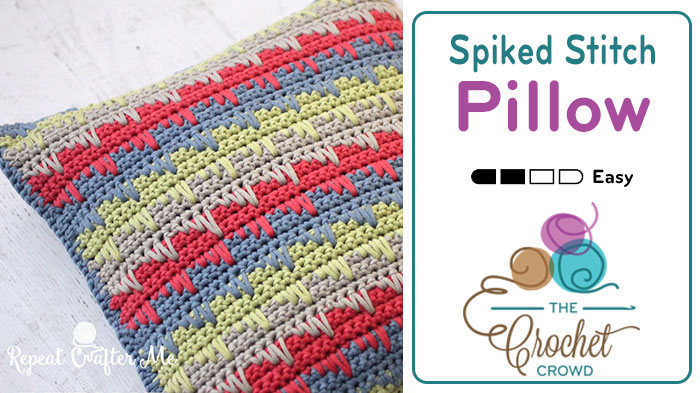 Crochet Spiked Stitched Pillow 12″ – 20″ Sizes + Tutorial