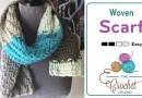 Crochet Caron Cakes Woven Scarf + Tutorial