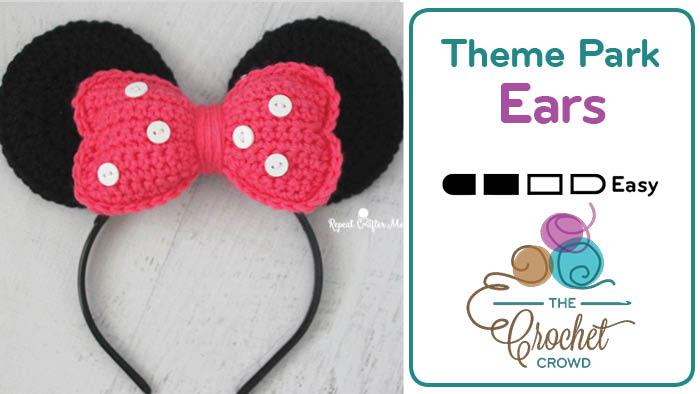 Crochet Minnie Mouse Ears The Crochet Crowd