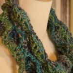 Crochet Butterfly Cowl Infinity Scarf