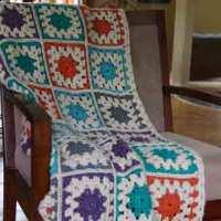 Crochet Color Burst Granny Afghan