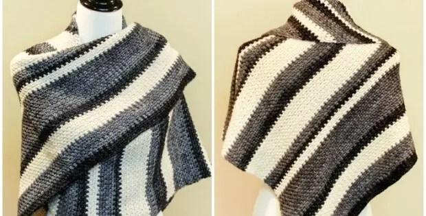 Crochet Ombre Shawl Free Crochet Pattern