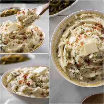 Homestyle Garlic Herb Mashed Potatoes • The Crumby Kitchen