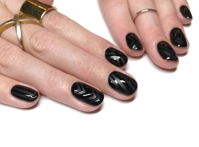 50 Dramatic Black Acrylic Nail Designs To Keep Your Style