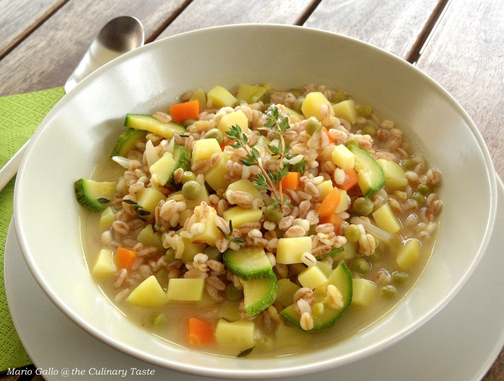Vegetable and Cereal Minestrone (1/3)