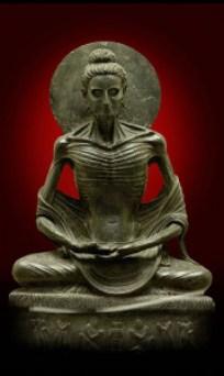 Buda en ayuno. Museo de Lahore, Pakistán