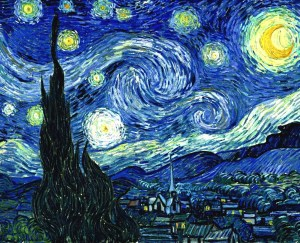 Noche estrellada. Van Gogh. Técnica óleo sobre lienzo.