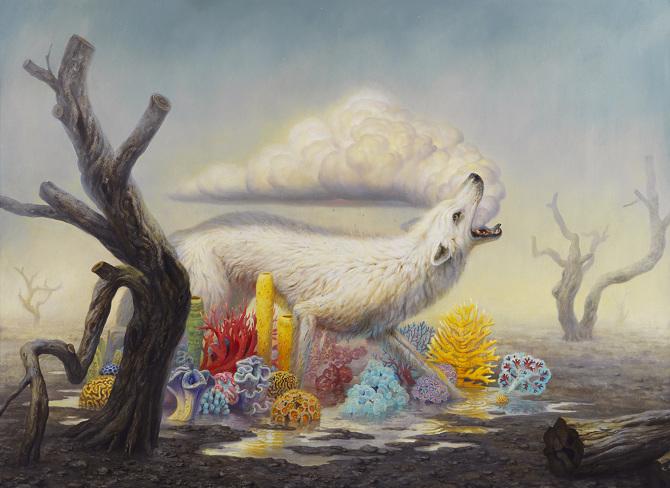 Rainsong, 73 x 100, oil on canvas, 2015