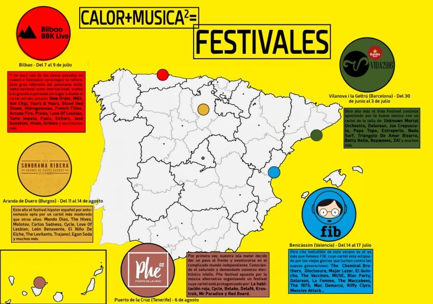 Calor+musica=festivales