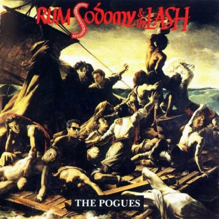 Versión de La Balsa de la Medusa (Théodore Gericault). Portada de Rum, Sodomy and The Lash, de The Pogues.