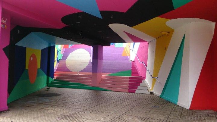Foto 1. Iker Muro, obra mural localizada entre la calle Góngora y el estadio Heliodoro Rodríguez López, 2018. Santa Cruz de Tenerife. Foto David Febo