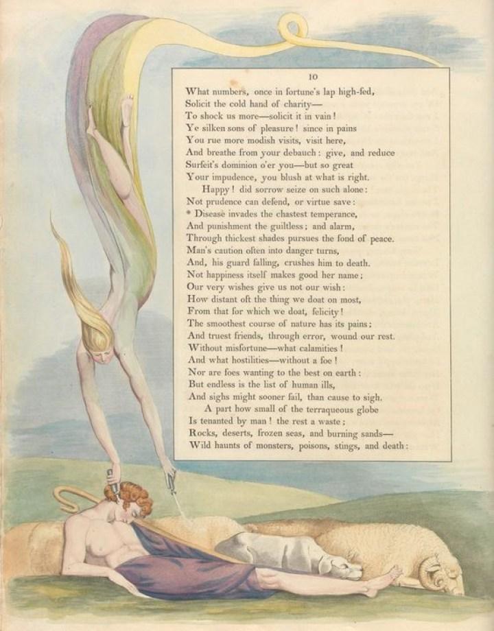 Ilustración 2. Fragmento de Night thoughts de William Blake (1742-1755) Imagen extraída de pinterest.