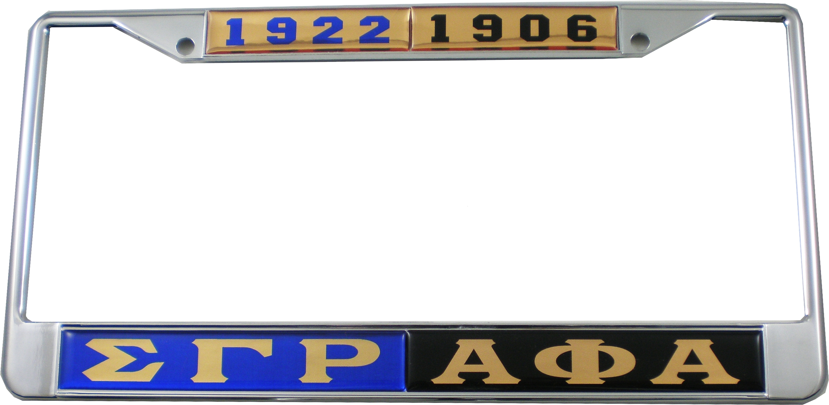 Gamma Split Details About Sigma Gamma Rho Alpha Phi Alpha Split License Plate Frame Blue Black Car