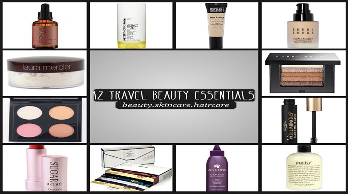 12 Travel Essentials: Beauty + Skincare + Haircare