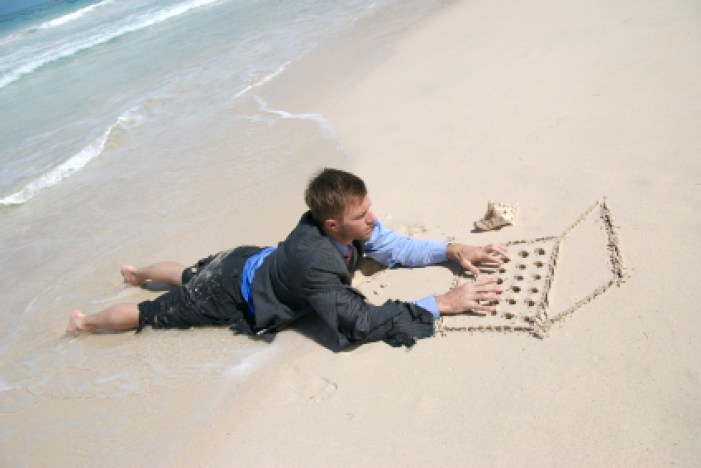 Man-on-beach