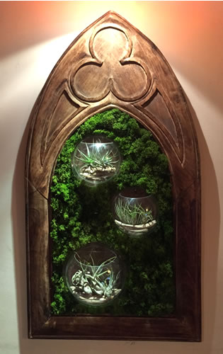 terrariums-london-picture frame-plant-home-houseplants-curious-gardener-gothic-viscorian-steampunk