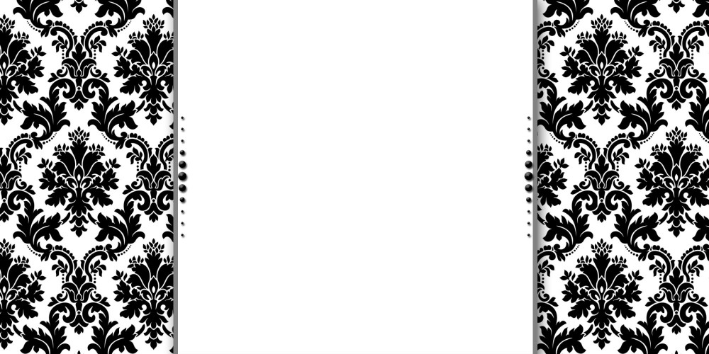 black and white damask border template - Onwebioinnovate - black border background