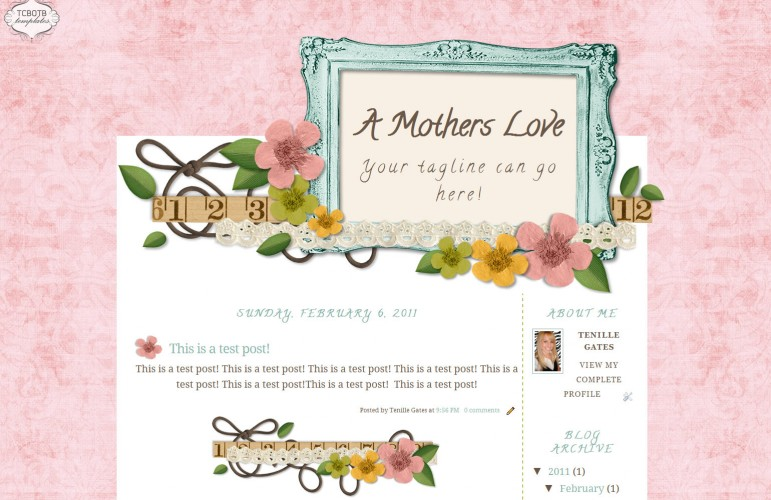 Blogger Templates The Cutest Blog On The Block - free cute blogger templates