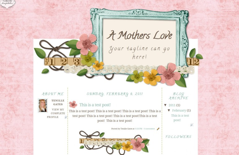 A Mothers Love Blogspot Template The Cutest Blog On The Block - love templates free