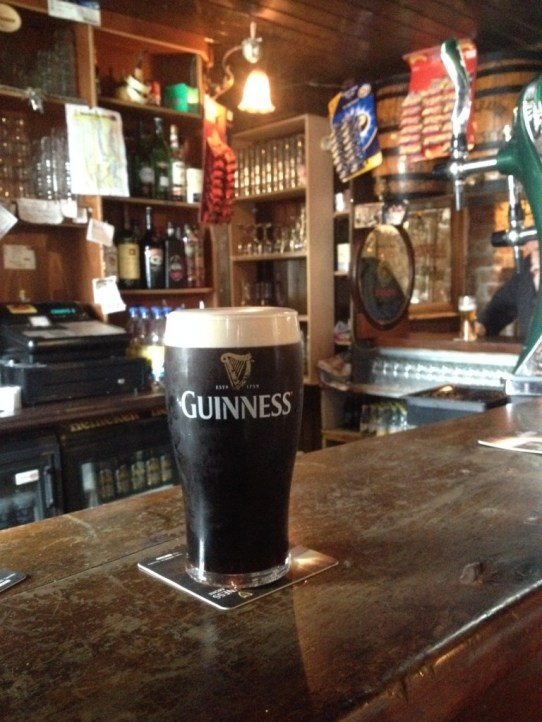 A pint of Guinness in Conways
