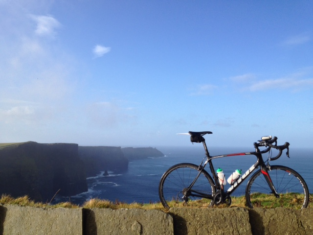Vitus Venon VR had no problems taking on the Cliffs of Moher