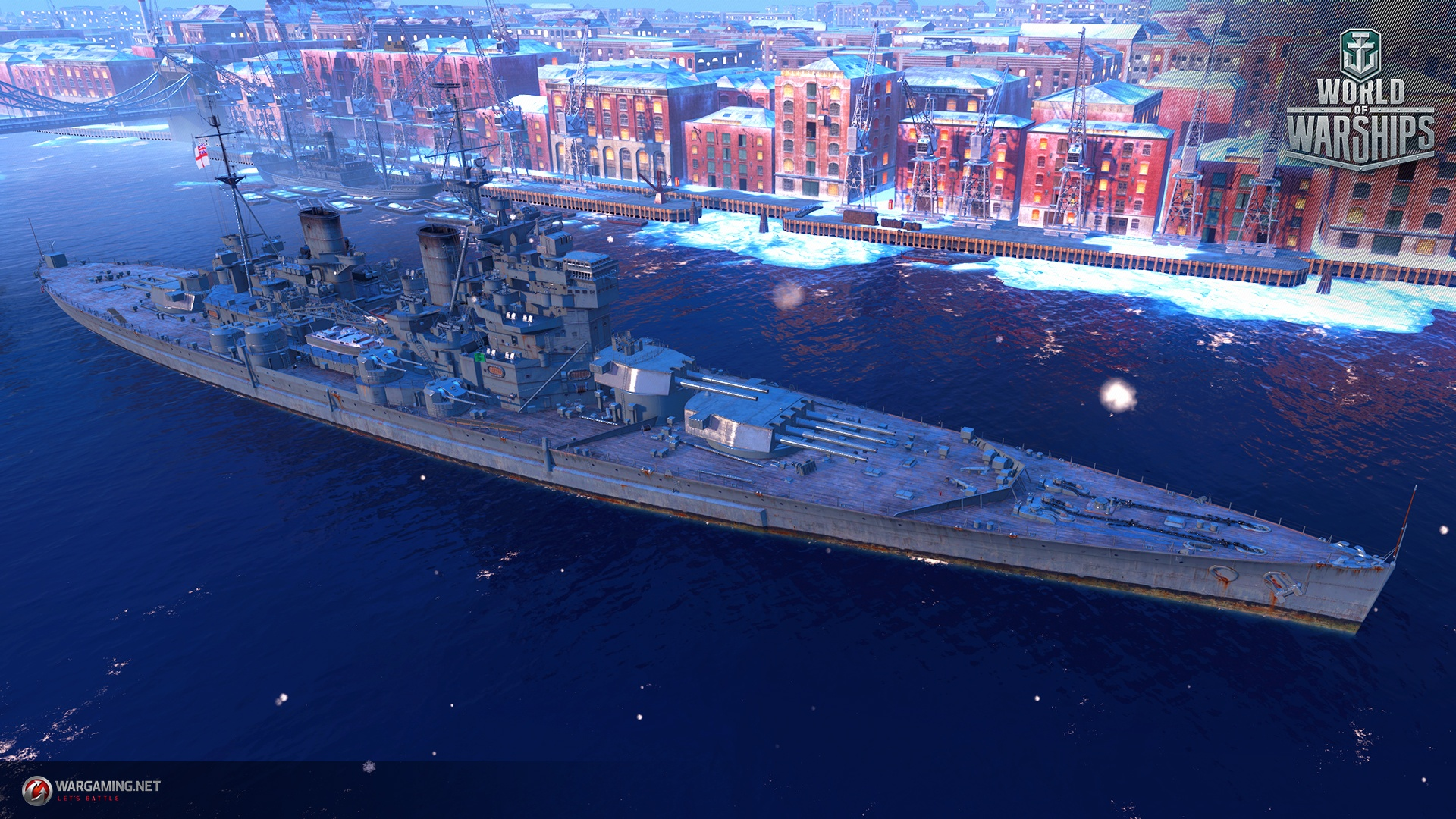 3d War Wallpaper World Of Warships British Battleships Nelson King
