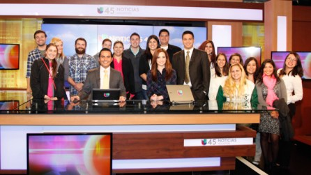 The class watched Univision's 5 p.m. news broadcast. | Fernando Castaldi/The Daily Cougar