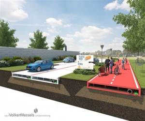 plastic recyclable roads in netherlands