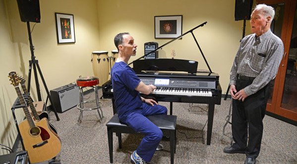 GBMC unveils voice therapy music studio