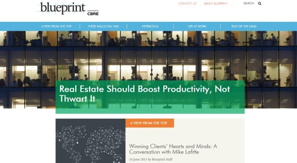 CBRE creates online magazine called Blueprint