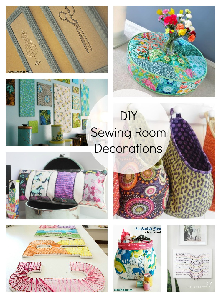 DIY sewing room decorations