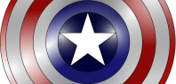 Captain America Dog Costume For Dress Ups & Halloween