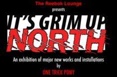 'It's Grim Up North' exhibition & Stussy tee