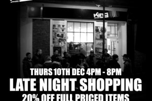 Late Night Shopping at King Pop Up Store