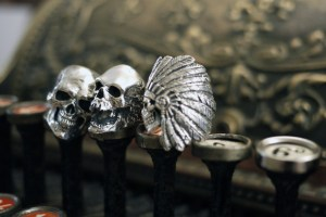 New Skull Rings by Crazy Pig Designs