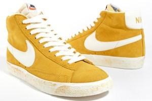 Nike Blazer Hi Vintage Suede QS (Gold/Sail)