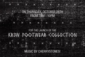 KR3W Footwear collection launch at Wholesome
