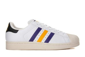 adidas Originals Superstar 2 NBA (White/Purple/Yellow)