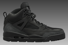 Air Jordan Spiz'ike Winterized Boot (Black/Black & Grey/Black/Purple)